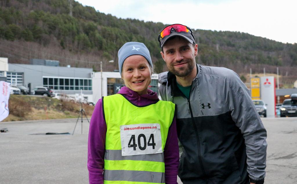 De to beste på 10 km, Nina Alvestad og Aron Dyb. Foto: Martin Hauge-Nilsen