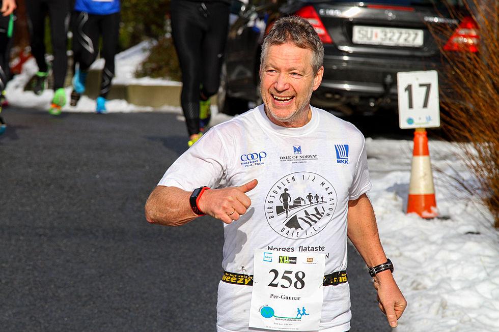 Per Gunnar Alfheim i et av sine mange løp i Maratonkarusellen. (foto: Arne Dag Myking)