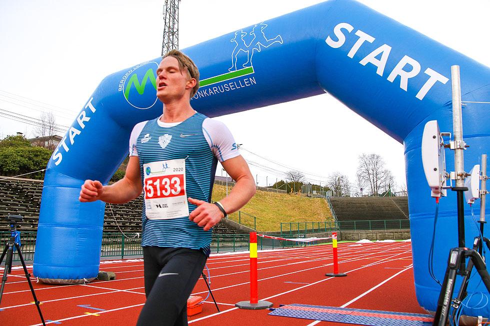 Sondre Øvre Helland vant halvmaraton i Maratonkarusellen i