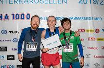 Premiepallen 5 km: Anders Langset, Marius Sørli og Mike Alvare