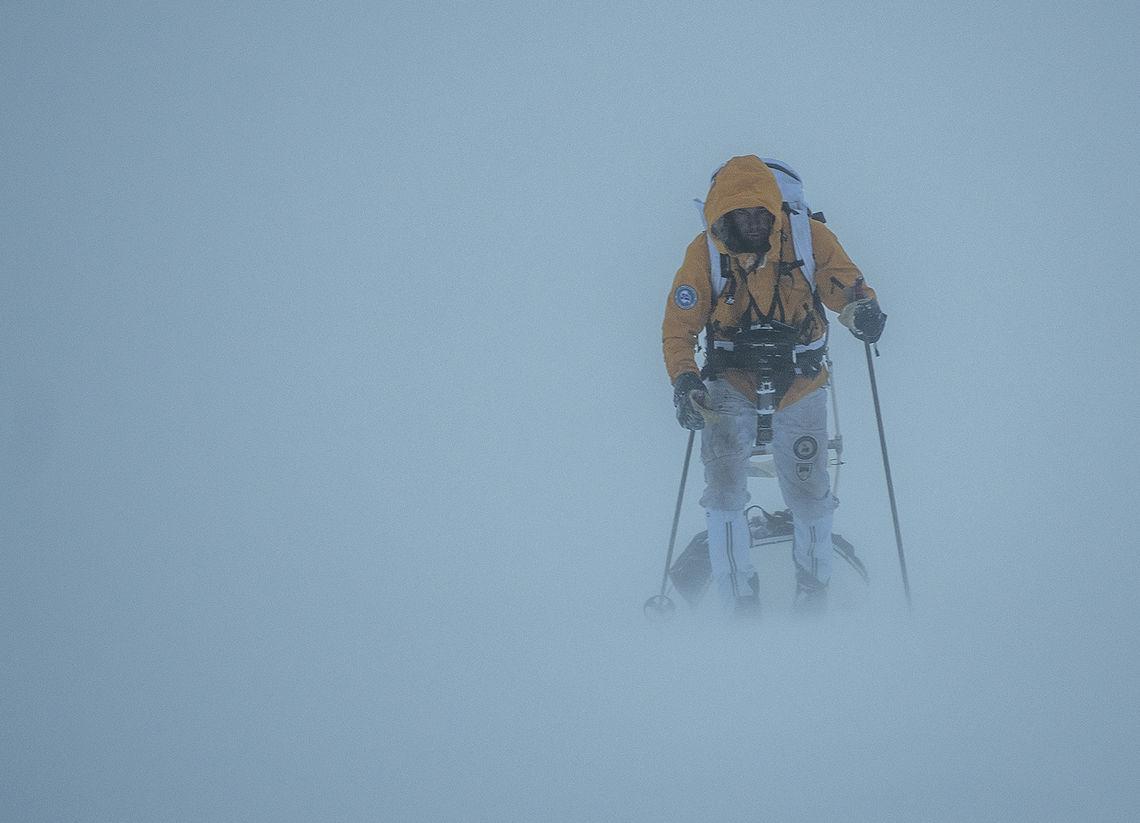 100 kilometer med ski og pulk over Hardangervidda. (Foto: Xavier Koenig/Xtremeidfjord)