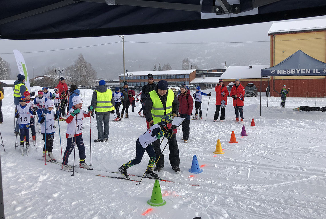 Start for de yngste i Beiasprinten. (Foto: arrangøren)