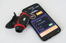 Ved hjelp av et enkelt apparat skal du kunne trene opp ditt lungevolum og respiratoriske styrke. Resultater og eventuell framgang kan du lese av på mobiltelefonen. (Foto: Bjørn Johannessen)