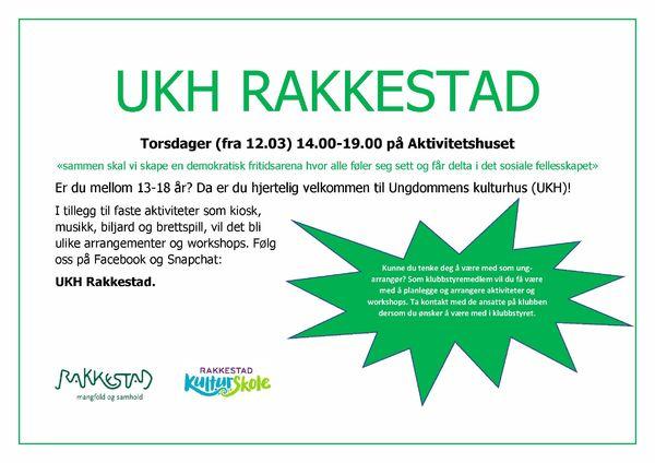 Velkommen torsdager på UKH Rakkestad banner