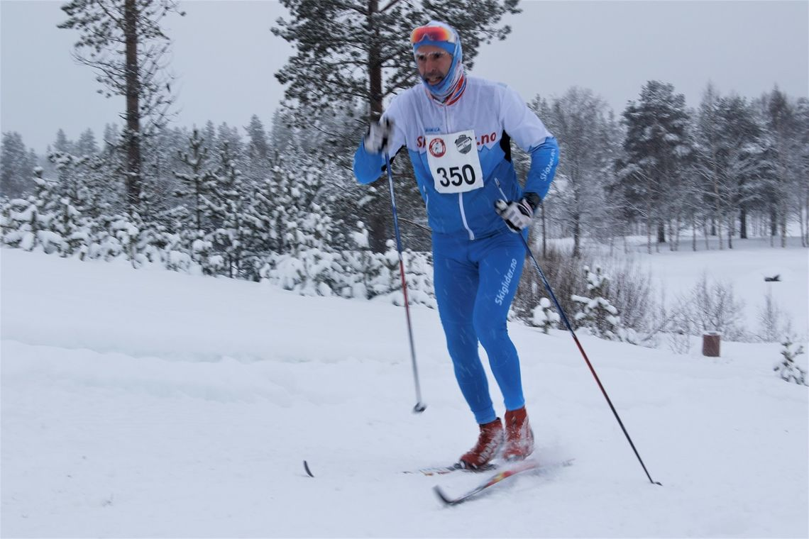 Jan Kristian Haugnæss mot mål i Trysil-Knut-rennet i 2019.