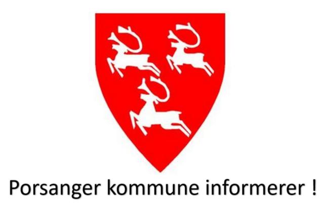 Kommunen informerer med logo og tekst