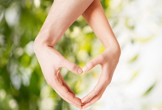 Hjerte med hender