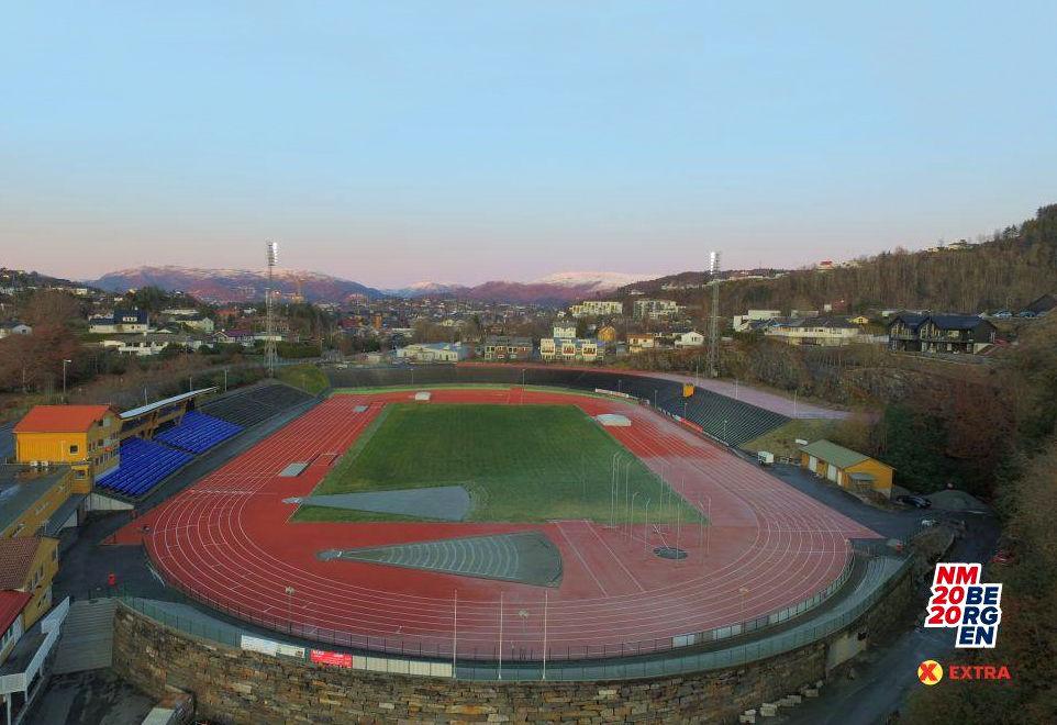 Friidretts-NM på Fana stadion er utsatt, og ny NM-helg blir antakelig bekjentgjort før påske. (Foto: arrangøren)