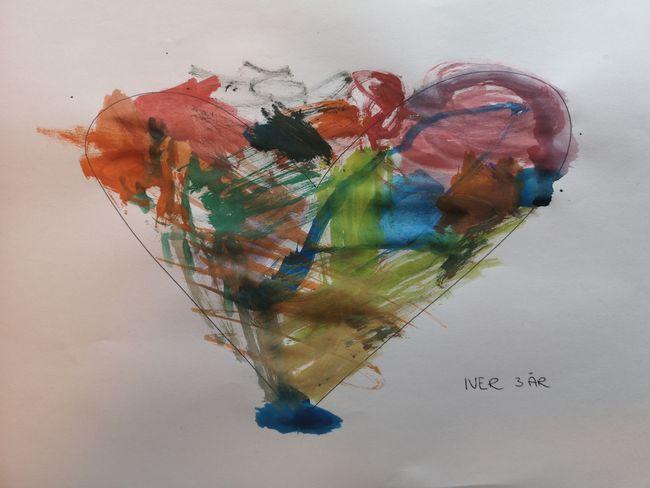 Flerfarget hjerte