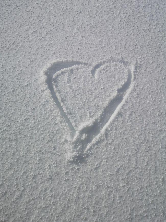 Hjerte i snø