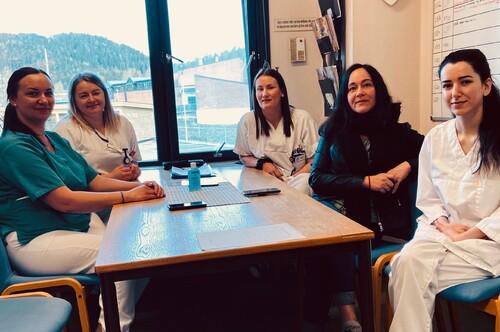 Sykepleiere fra kortidsavdelingen på Fjerdingby Helsetun
