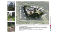 Skisse ny skole i omgivelser HRTB Arkitekter