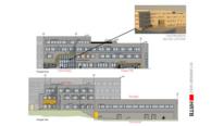 Fasade vest ny skole skisse HRTB Arkitekter