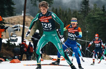 I Holmenkollen: Lars Agnar Hjelmeset gikk inn til tredjeplass på 22,5 km skøyting under norgescupen i vinter. (Foto: Johannes Wiken)