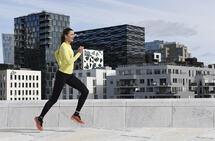 Bevegelsesglede og det å prøve å prestere på høyt nivå, er ikke noen motsetning for Sigrid Jervell Våg. (Foto: Bjørn Johannessen)