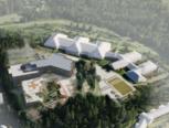 3D modell skisse Fjerdingby skole HRTB Arkitekter