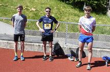 Trym Tønnesen, Alf Georg Joranger og Niels Christian Hellerud fikk testet vårformen på en 3000 m på Halden Stadion. (Alle foto: Bjørn Johannessen)
