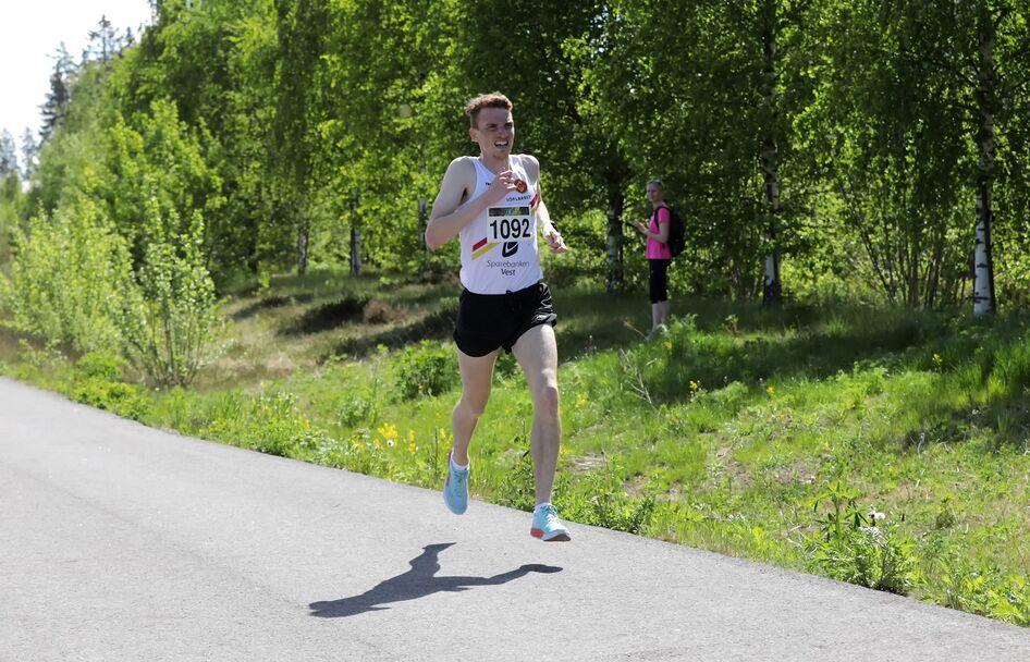 Marius Vedvik stivnet på slutten og ble nummer fem.