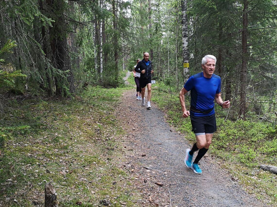 Ukas cupløp gikk på de samme stiene som blir brukt til oppvarming før Kondistreninga på banen på Terningmoen hver torsdag kl 18.