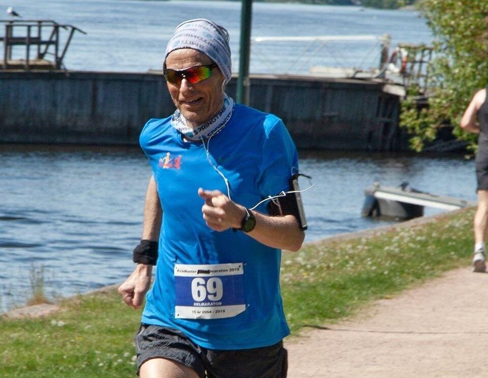 Nils Hjelle var klart raskest både på maraton (passering) og ultra da KickMaster Ultramaton ble arrangert i Drammen i pinsen. (Foto: Marit Ryland)
