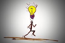 De gode idéene kommer ofte mens man trener. (Illustrasjon: Bjørn Johannessen)