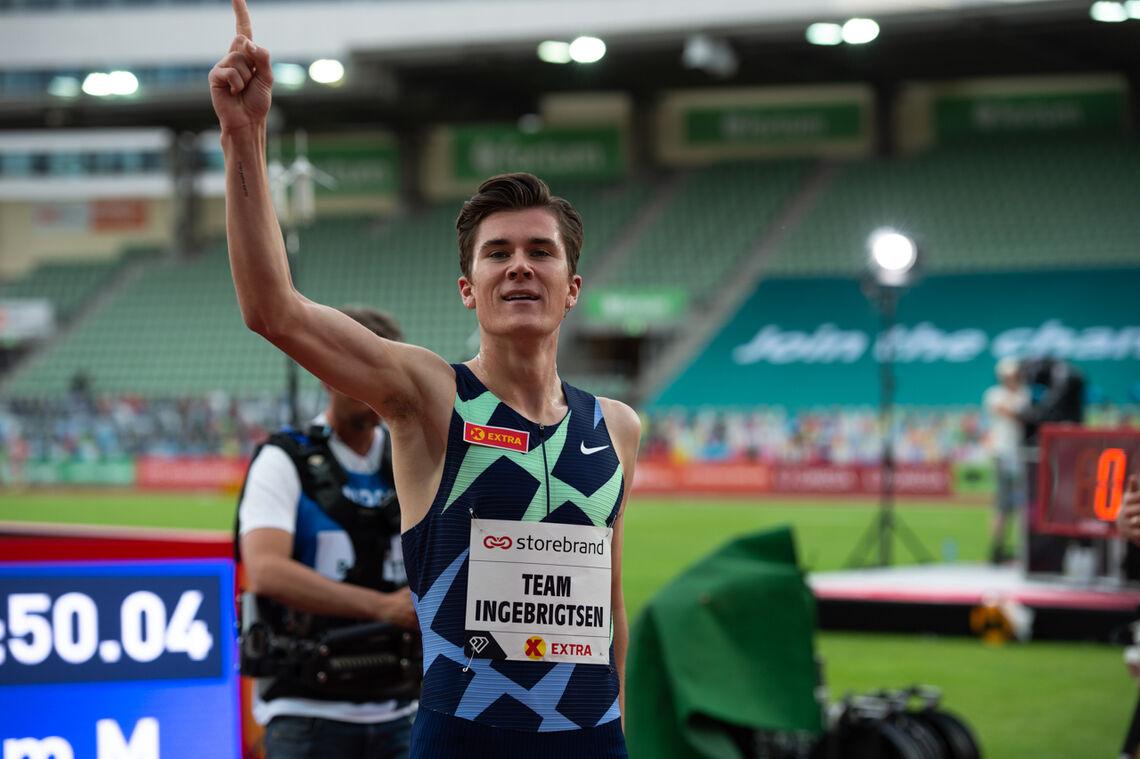 Jakob Ingebrigtsen setter stadig djupere spor etter seg, og 20-åringen fra Sandnes har nå Europa-rekorden på både 1500 m, 2000 m og 5000 m. (Foto: Sylvain Cavatz)