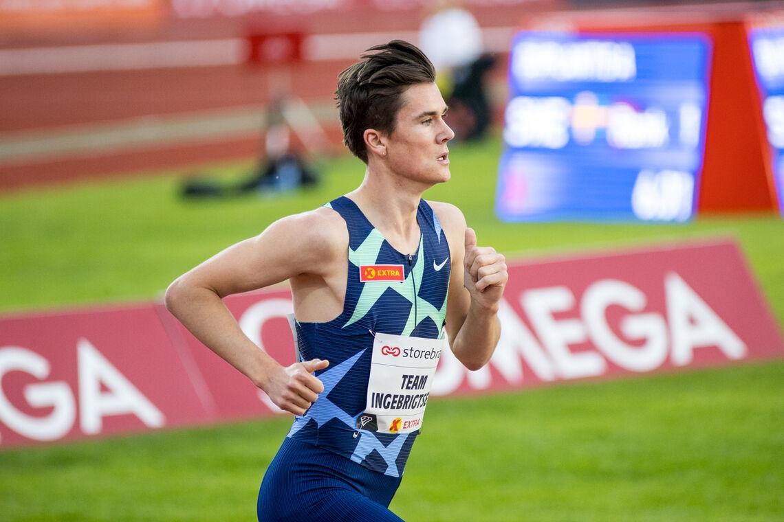 Jakob Ingebrigtsen er nå oppe på niendeplass gjennom alle tider på verdensstatistikken på 3000 m. (Arkivfoto: Sylvain Cavatz)