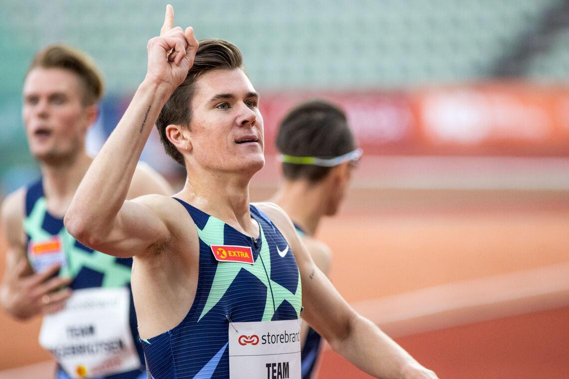Jakob Ingebrigtsen kunne tirsdag kveld juble over ny europarekord på 1500 m innendørs. (Arkivfoto: Sylvain Cavatz)