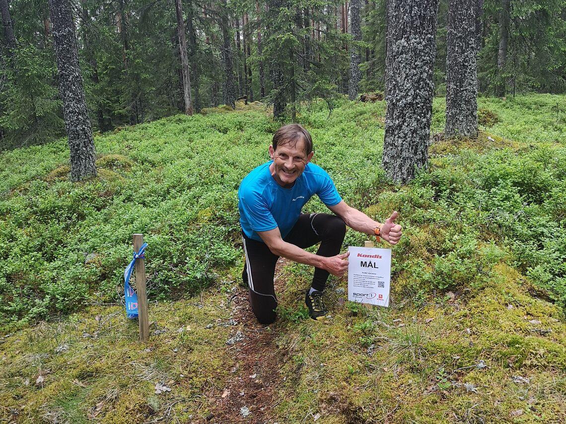 Kondis' Rolf Bakken er vel i mål med fem varierte skogsløp i Elverum. (Foto: Jan Erik Bakken)