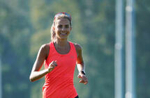 Utholdende: Julie Vollum Bø liker å løpe, og et erklært mål er å løpe maraton under 3 timer.  (Foto: Magnus Knutsen)