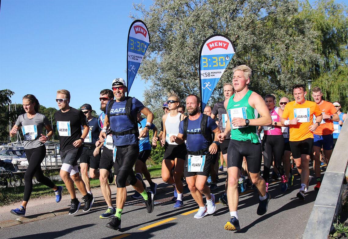 Maratonmål: Oslo Maraton – eller et annet av høstens maratonløp – kan være et fint mål å trene imot. Med god trening på forhånd og hjelp fra erfarne fartsholdere underveis blir det enklere å nå målet. (Foto: Runar Gilberg)