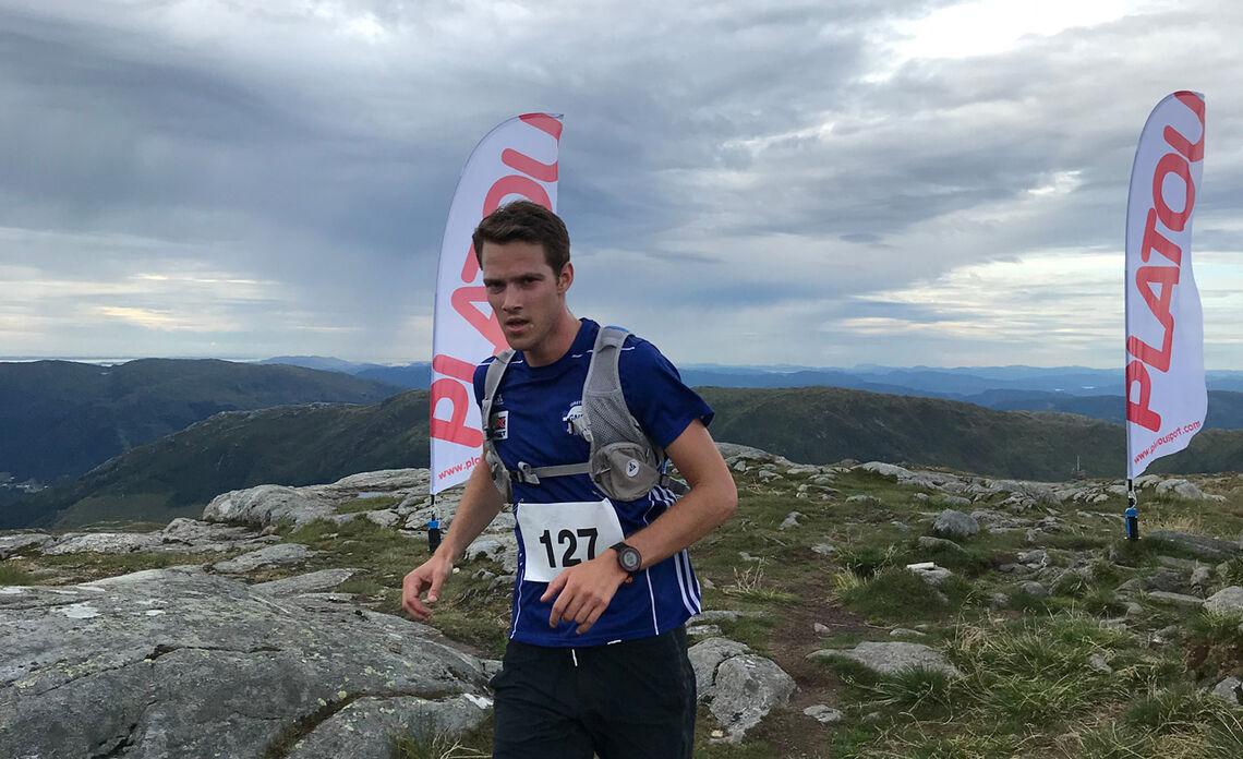 Espen Roll Karlsen var raskest under Dyrdalsrunden sist, her på løypens høyeste punkt