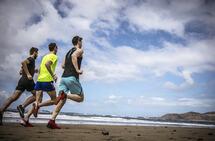 Sjøl om tre personer løper like fort, bruker de som oftest ulik mengde energi. (Foto: Oda Hveem)