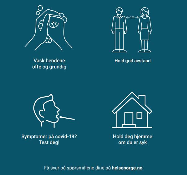 En sommerlig påminnelse om smittevernregler – din innsats gjør en  forskjell! - Porsanger kommune