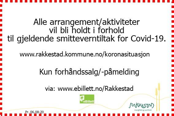 Info ved arrangement og aktivitet under Covid-19 - Rakkestad kommune