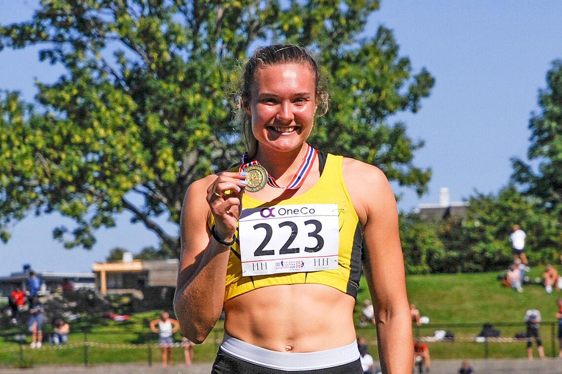 Amanda Marie Grefstad Frøynes vant 800 meter i klasse U23 i junior-NM. (Alle foto: Arne Dag Myking)