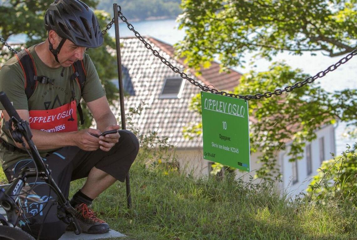I multisportkonkurransen Opplev Oslo skal du i løpet av fem timer finne så mange poster som mulig innen en radius av 10 km fra Rådhusplassen. (Alle foto: arrangøren)