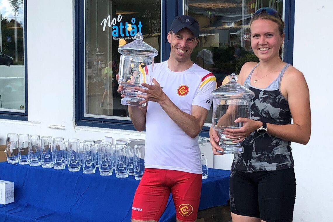 Krystallmarsjen-vinnere 2020: Hallvard Nilsen og Camilla Hesbøl. (Foto: Torgrim Finsrud)