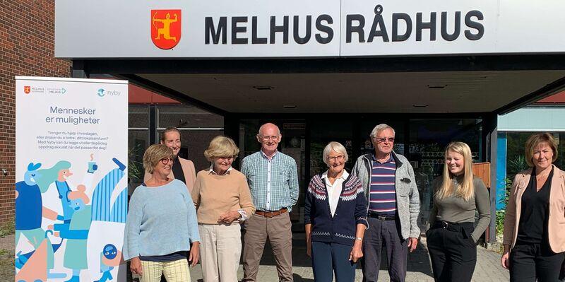 Representanter fra Oppdal eldreråd og -kommune fikk høre om mulighetene for koordinering av frivillighet gjennom bruk av appen Nyby, da de besøkte Melhus torsdag.