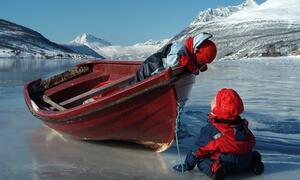 barn på isen ©Hans Erik Børve