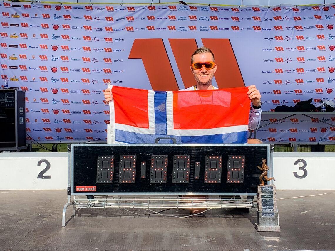 Stian Andersen var eneste norske i årets Mors 100 miles. Tittelforsvareren vant igjen, suverent. (Privat foto)