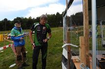 Sigurd Dæhli i mål som vinner av M65 søndag. (Foto: Stein Arne Negård)