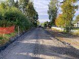 Strømsdalen bygging av ny gangveg