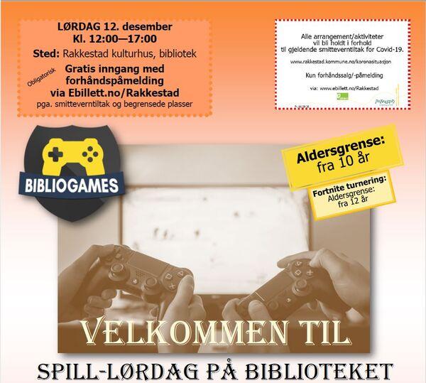 Spill-lørdag på biblioteket - Rakkestad kulturhus - 121220