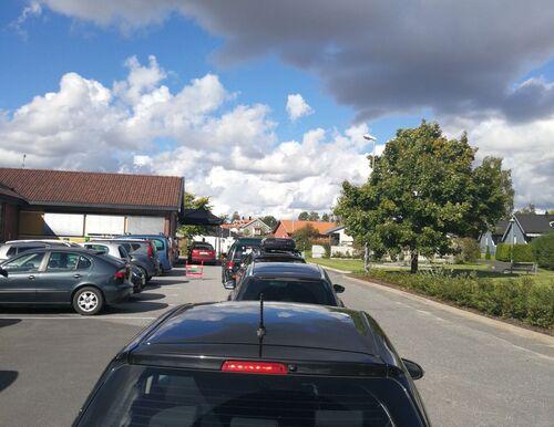 Kø for testing  Rakkestad