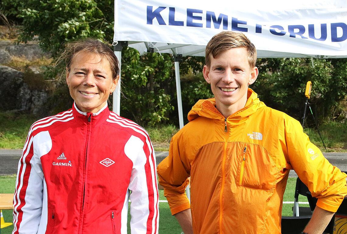 Jessica Gunnarsson og Eirik Methlie Hagen leverte sterke løp og vant den tunge 10 kilometeren på 38.21 og 35.01. (Foto: Runar Gilberg)
