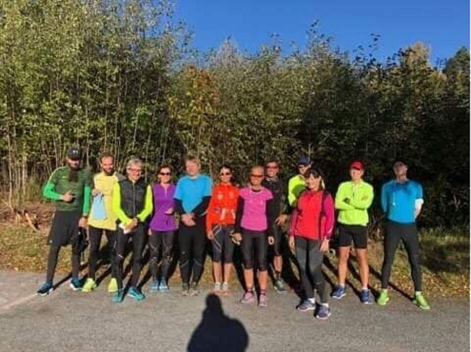 Fra Cannonball Maraton på Jevnaker i 2018 med 12 deltagere på maraton og halvmaraton (arkivfoto)