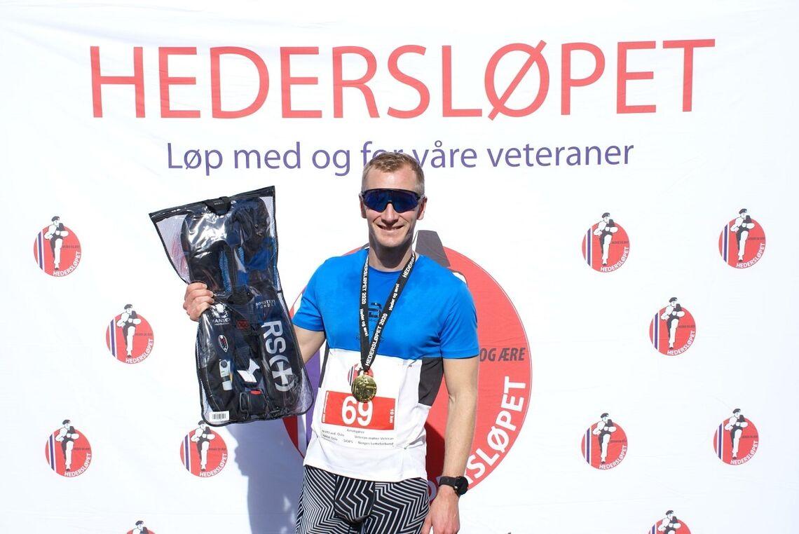 Jørgen Otto Tresselt hadde med 34:44 dagens beste tid på to runder i Hedersløpet. (Foto fra løpets facebookside)