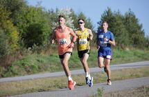 Tettrioen etter en drøy halvtimes løping bestod av Anders Nøtsdahl Gløersen, Jon Arne Gaundal og Geir Endre Rogn. (Foto: Bjørn Hytjanstorp)