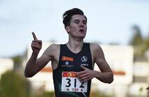 Jakob Ingebrigtsen vant 1500 meter på veldig sterk ny mesterskapsrekord i et sololøp på 20-årsdagen. (Foto: Bjørn Johannessen)
